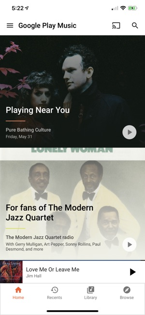 Google Play Music on the App Store