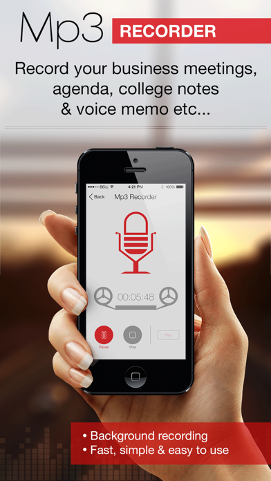 Screenshot #1 pour Mp3 Recorder : Voice Recorder