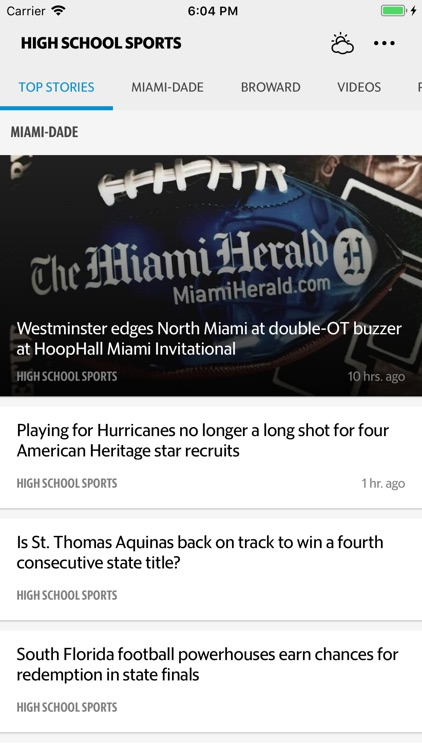 Miami High School Sports News