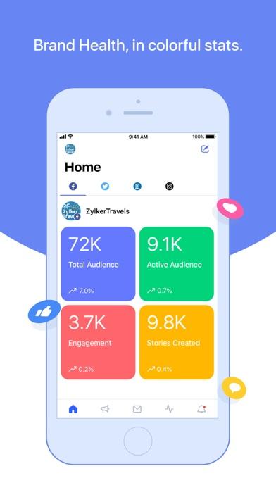 Zoho Social screenshot one