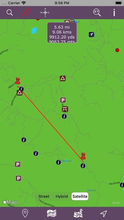 Bighorn National Forest - GPS screenshot-3