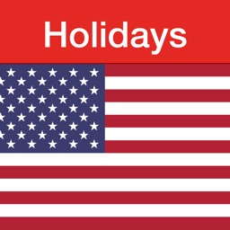 US Holidays - cals with flags