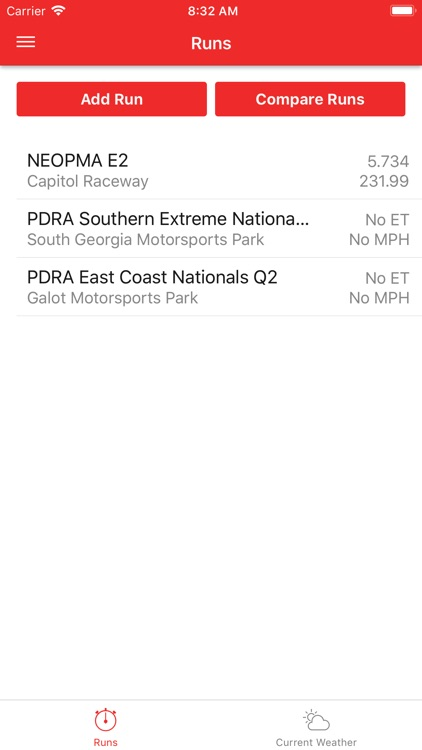 DragTuner Log Book & Weather
