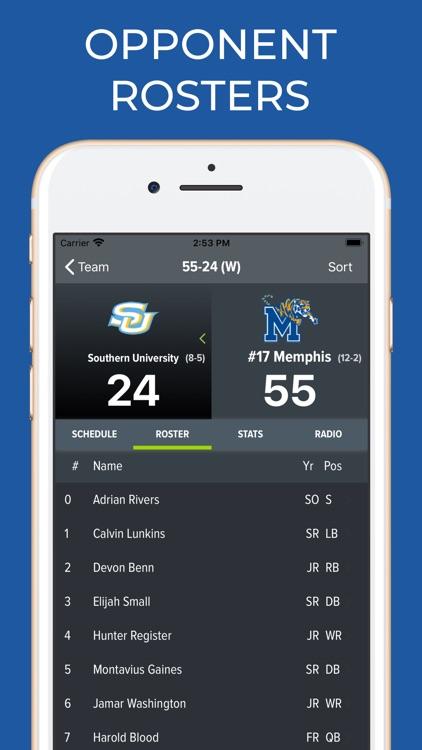 Memphis Football Schedules screenshot-8