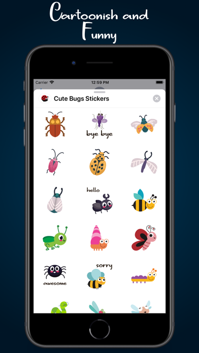 Cute Bugs Stickers app image