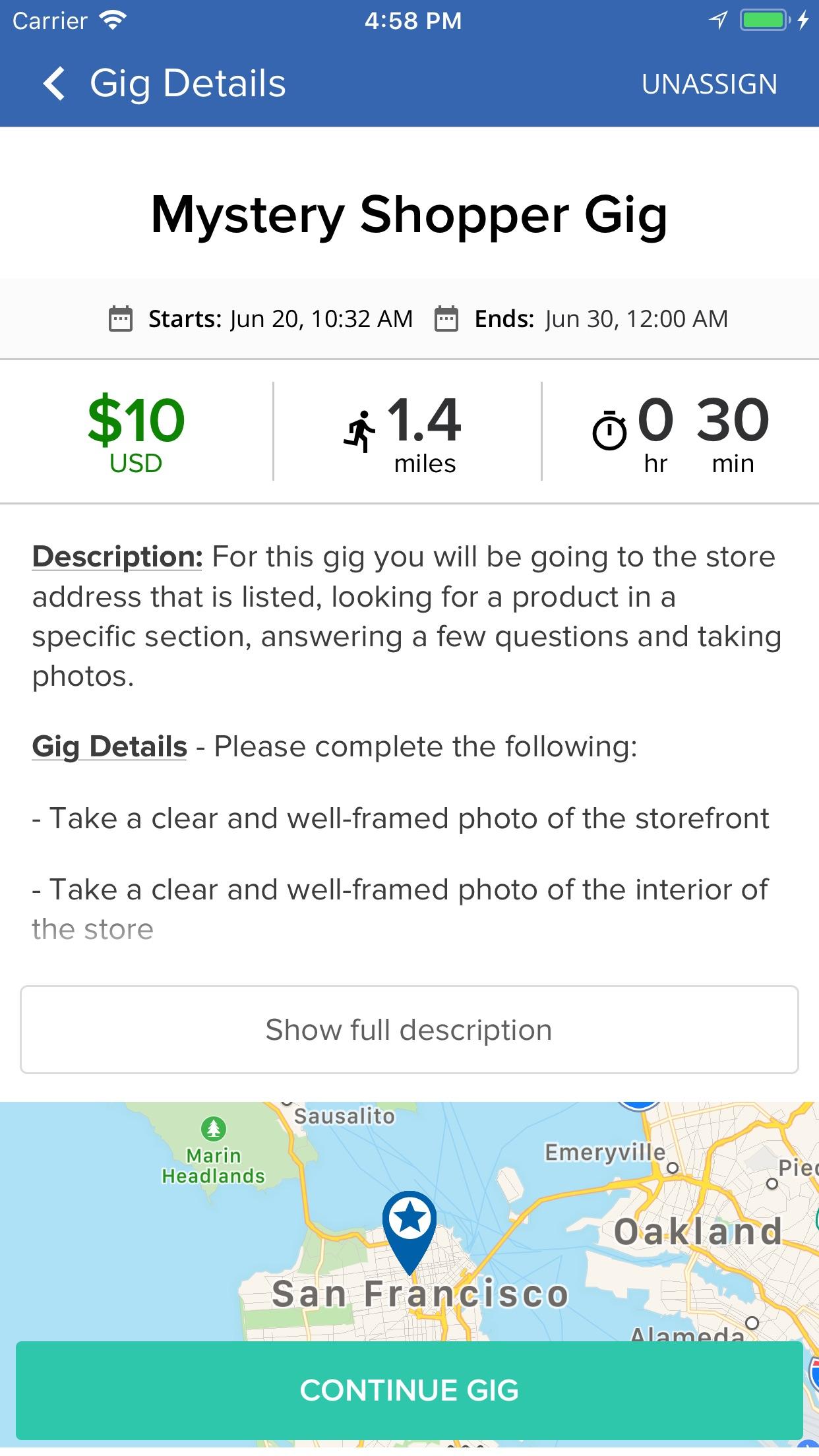 Gigwalk Enterprise Screenshot