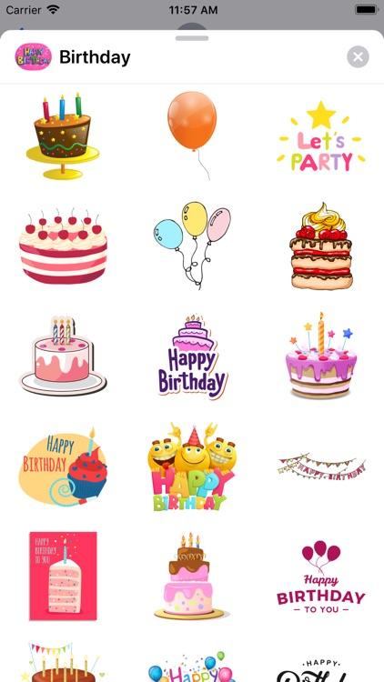 100+ Happy Birthday Stickers