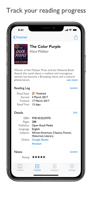 Reading List - Book Log on the App Store