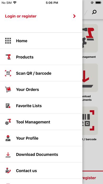 Hilti Mobile AppScreenshot of 2
