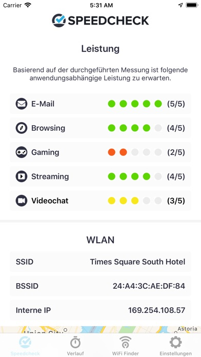 Screenshot for Speedcheck Internet Speed Test in Germany App Store