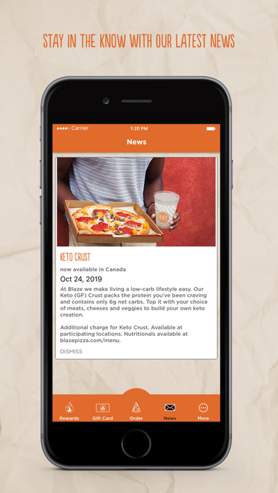Screenshot for Blaze Pizza in United States App Store