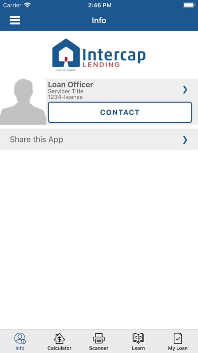 Intercap Lending AppScreenshot of 1