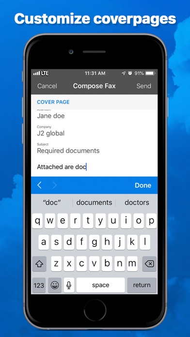 eFax – send fax from iPhone Screenshot