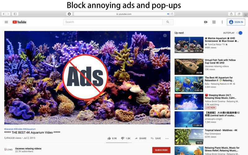 Screenshot #1 for AdBlock Max