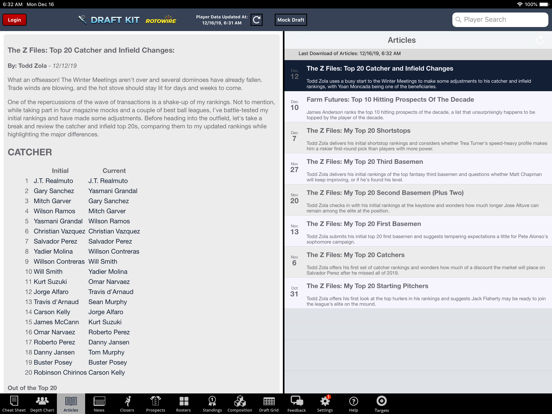 Fantasy Baseball Draft Kit '20 screenshot 9