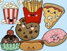 Cute Food-Art of Cute Stickers