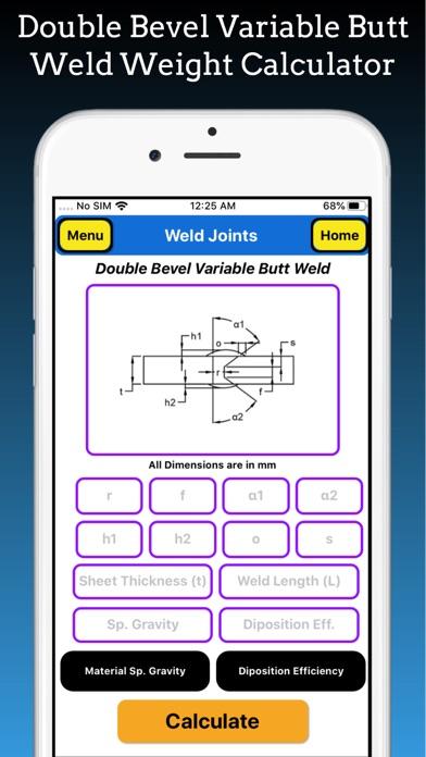 Welding Weight Calculator Pro screenshot 4