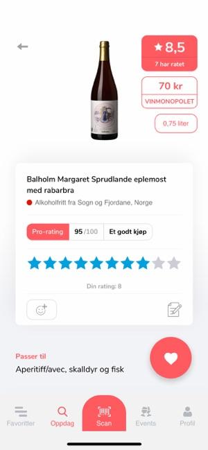 vin app norsk