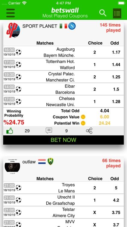 BetsWall Football Betting Tips screenshot-3