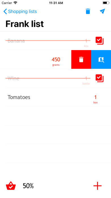QuickList simple Shopping List screenshot three