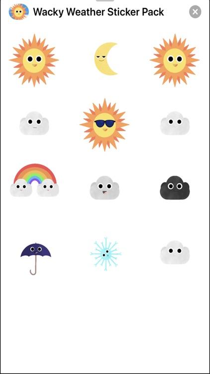 Wacky Weather Sticker Pack screenshot-3