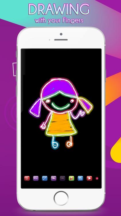 Glowii: Easy Neon Doodle Draw