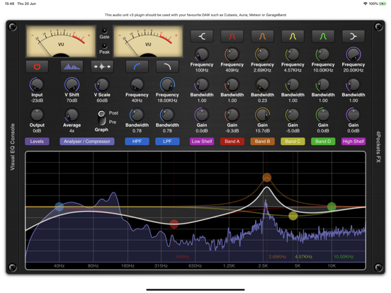 Visual EQ Console AUv3 Plugin screenshot 4