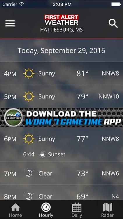 WDAM 7 First Alert Weather screenshot-4