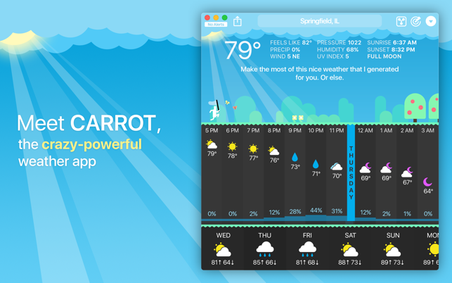 ‎CARROT Weather Screenshot