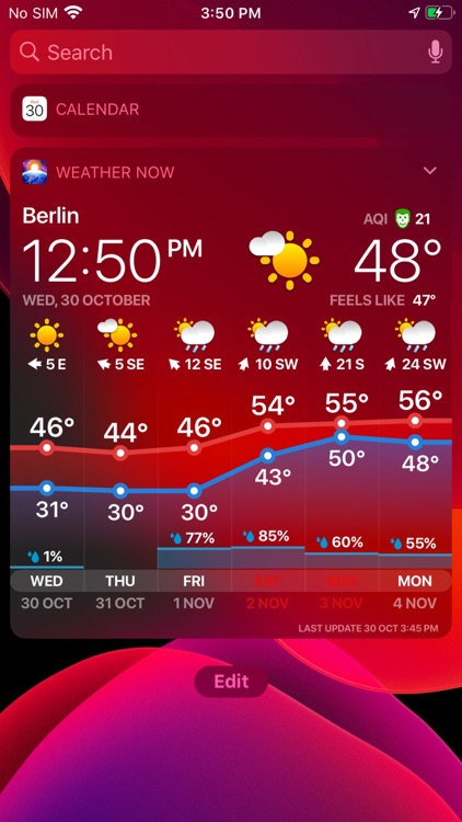 WEATHER NOW ° - daily forecast screenshot-8