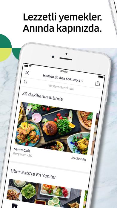 Screenshot for Uber Eats: Yemek Teslimatı in Turkey App Store