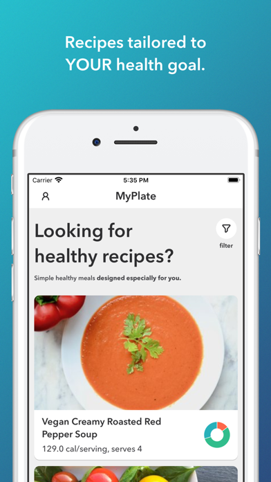 MyPlate Calorie Counter Screenshot