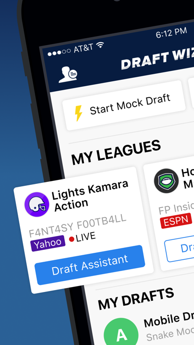 Fantasy Football Draft Wizard Screenshot