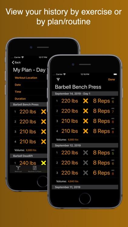 Gym Horn: Workout Tracker Log screenshot-3