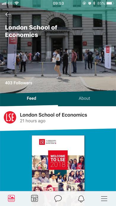 LSE Student Hub screenshot three