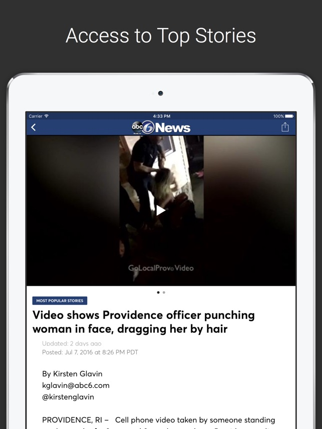 ABC 6 (WLNE – TV) on the App Store