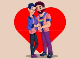 Pride Gay Couple Stickers