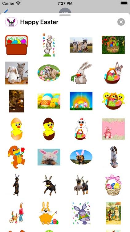 Happy Easter Emoji Stickers screenshot-3