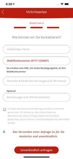 MySchleppApp Screenshot