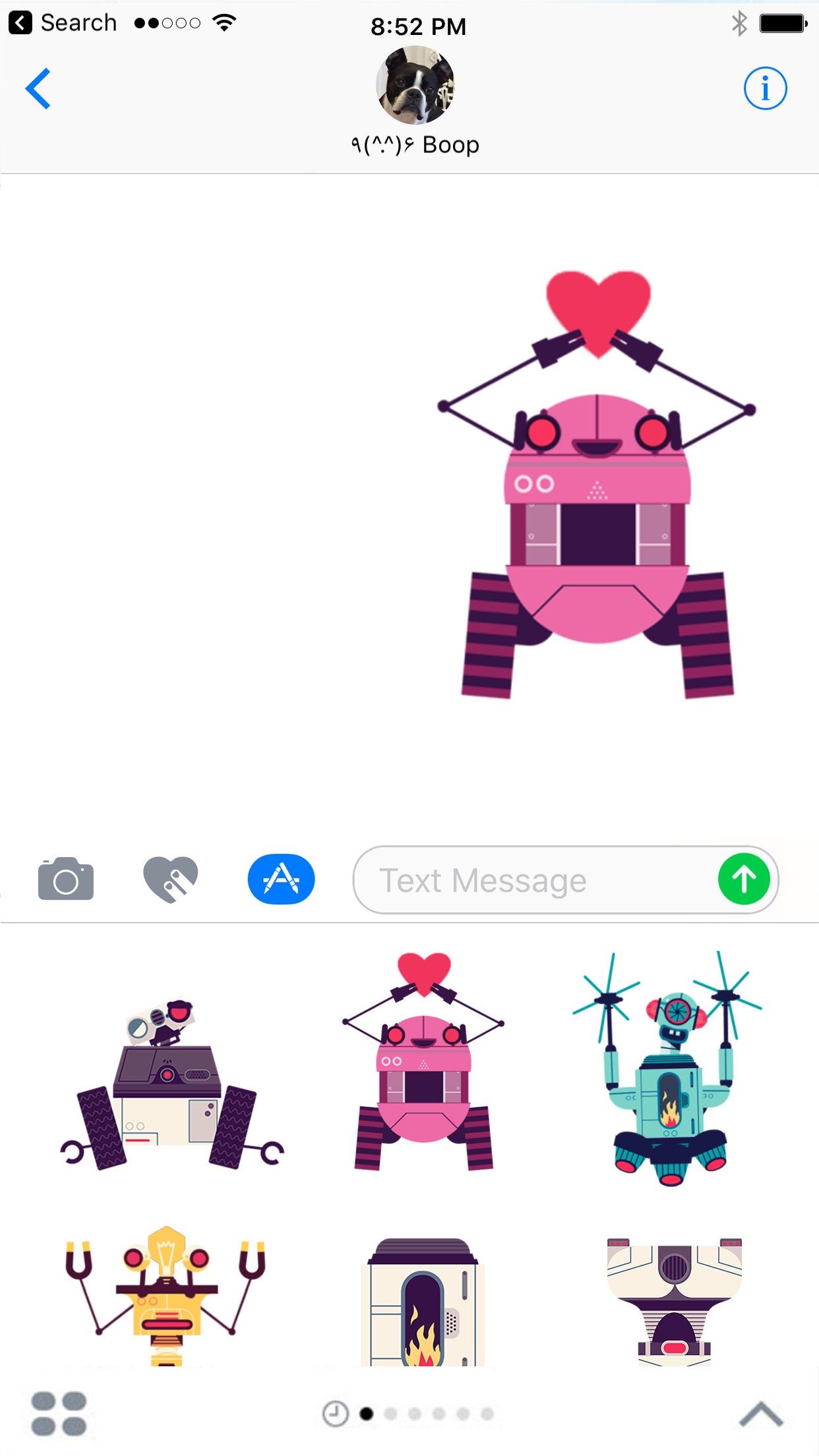 Screenshot do app A Fábrica de Robôs por Tinybop