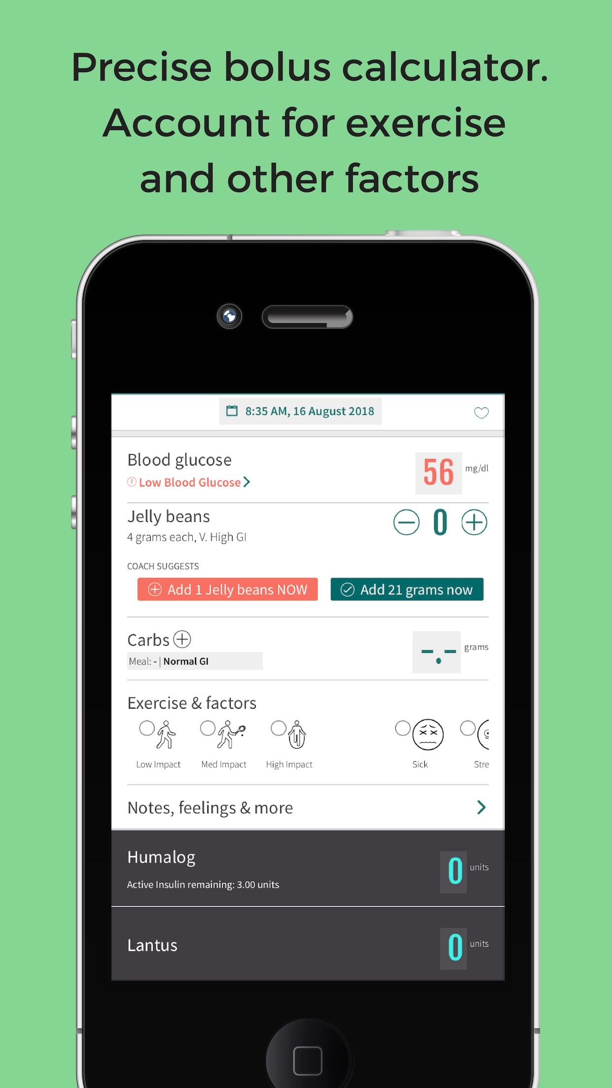 Jade Insulin Dose Calc Screenshot