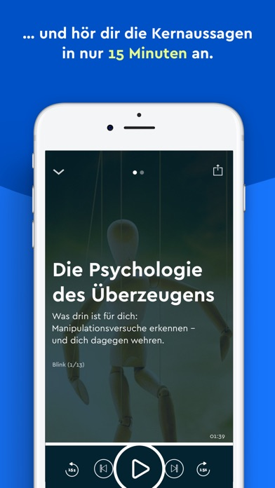Screenshot for Blinkist - Lerne jederzeit in Germany App Store