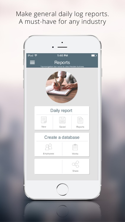 Daily Log Reporting App