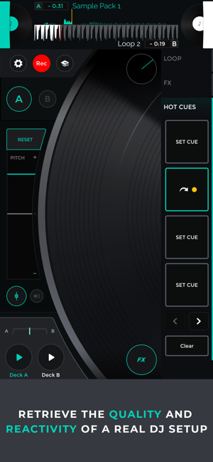 Mixfader dj app Screenshot