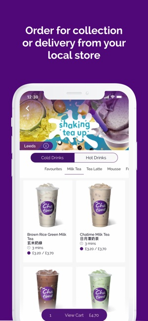 Chatime UK: Pickup & Delivery on the App Store