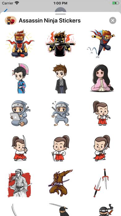 Assassin Ninja Stickers screenshot 2