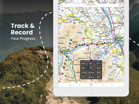 Outdoors GPS – Offline OS Maps for Hiking & Biking screenshot