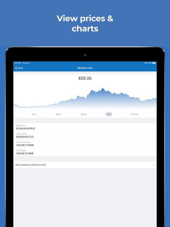 iPad Image of Trust: Crypto & Bitcoin Wallet