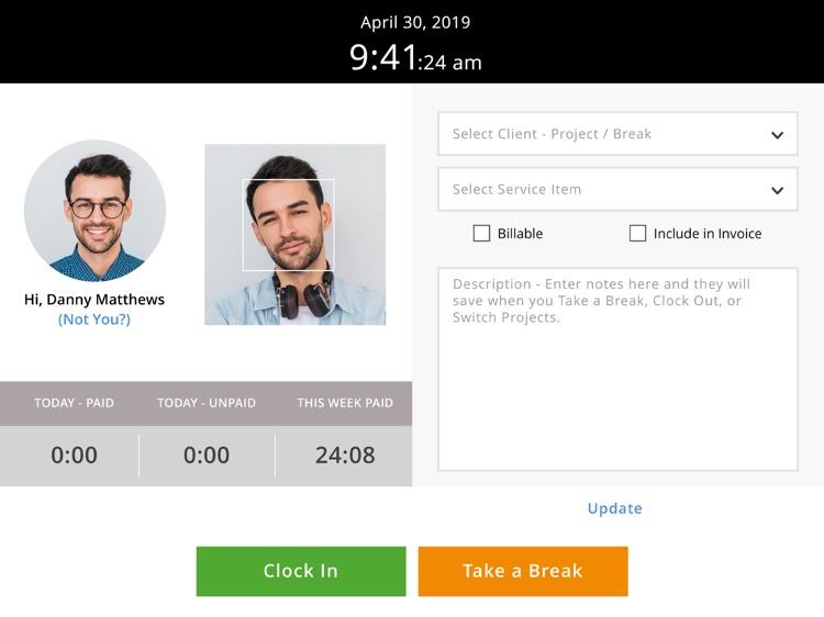 Time Tracker Kiosk by eBillity