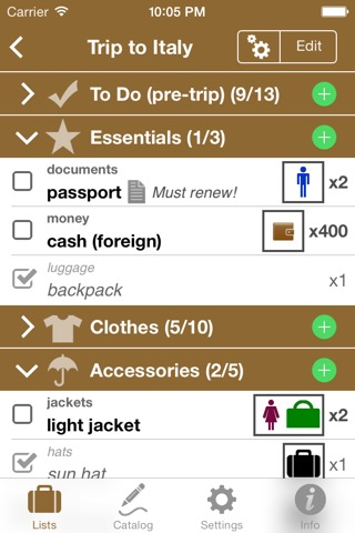 Pro List-making Bundle for Travel Packing & Grocery Shopping Listsのおすすめ画像1